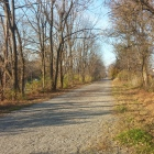 The Saucon Rail Trail, looking north from West Walnut Street