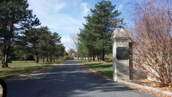 The entrance to the former Woodland Hills Golf Course in Lower Saucon Township.