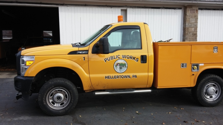 Hellertown PW Truck streets