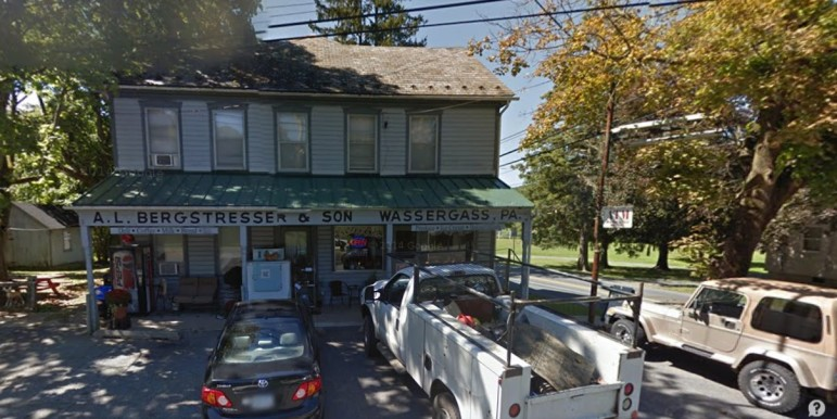 Bergy's store is a local landmark located at 3640 Lower Saucon Road in the Wassergass section of Lower Saucon Township.