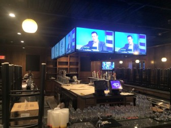 Digital Oasis installed the bank of televisions above the bar at Taps Tavern in Lower Saucon Township.