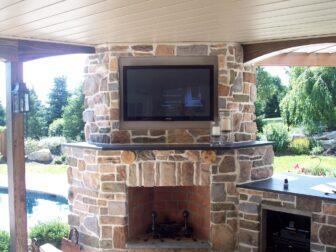 Digital Oasis installs TVs in outdoor living areas.
