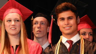 Co-salutatorians Kelsy Lysek and Allen Meadows produced a memorable video for the ceremony.