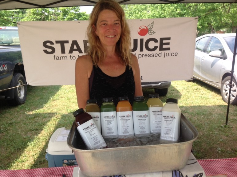 Stark Juice of Kempton is the Saucon Valley Farmers' Market's newest vendor and sells farm-to-table pressed juices.