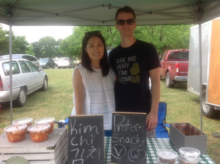 Four Nature sells handmade kimchi at the Saucon Valley Farmers' Market.