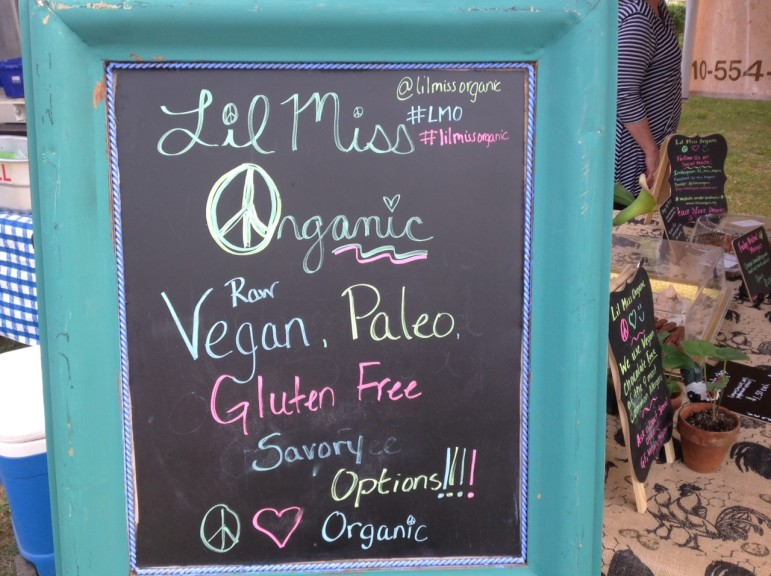 Lil Miss Organic sells organic, raw, paleo and gluten-free foods at their booth at the Saucon Valley Farmers' Market.