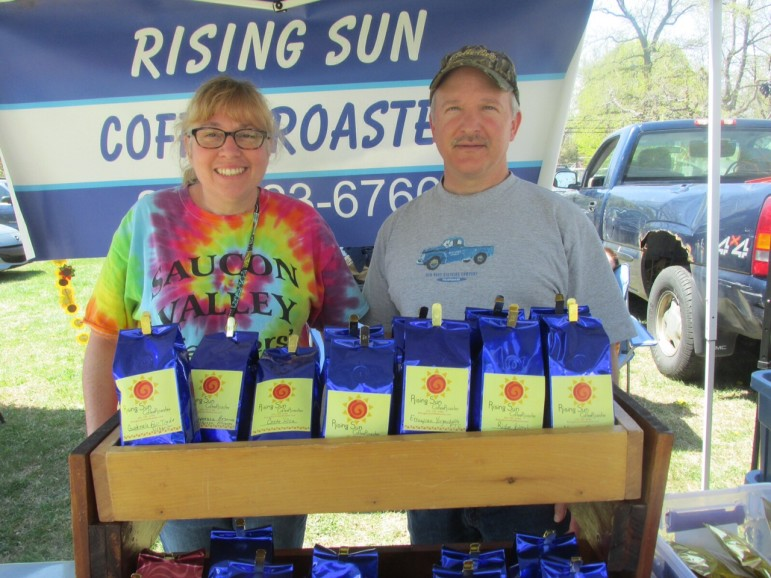 Rising Sun Coffee Roasters specializes in gourmet roasted coffee sold by the bag or fresh-brewed in a cup.