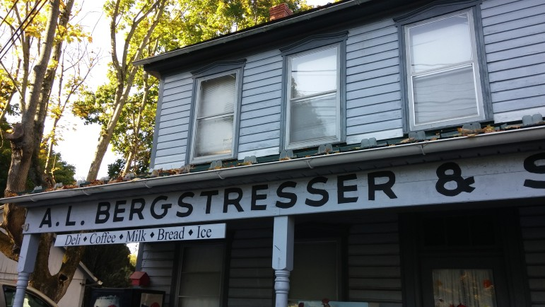 The exterior of Bergy's Mall in Wassergass has essentially remained unchanged since the late 19th century.