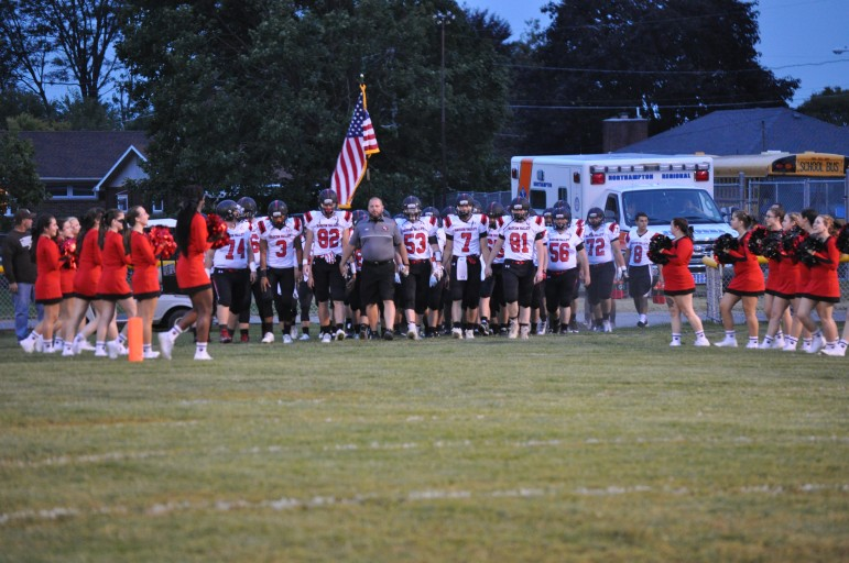 The Saucon Valley Panthers look to march to an undefeated Coloinal League championship Friday at Palisades
