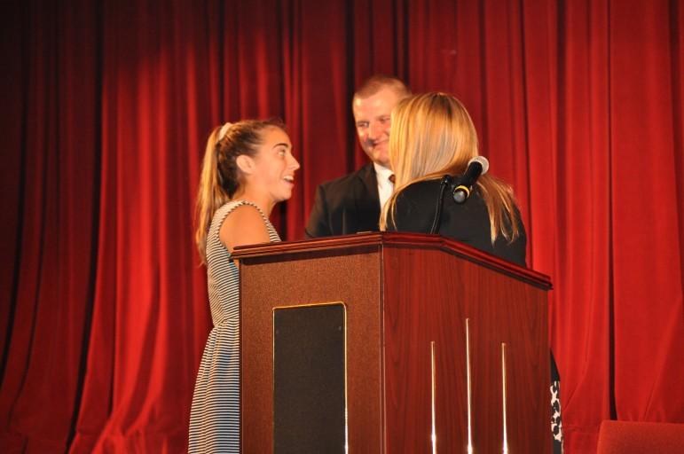 2015 SV Field Hockey MVP Liz Trimble claims her award