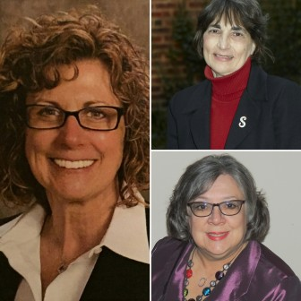 Clockwise: Donna Louder, Sandra Yerger and Priscilla deLeon are the all-female winners of a hotly-contested race for three open seats on Lower Saucon Township Council, according to unofficial election results.