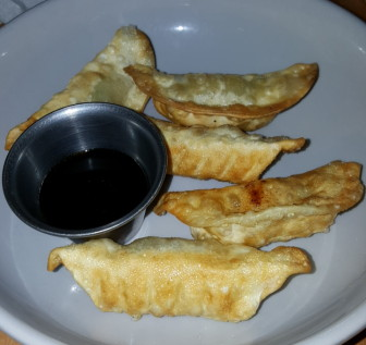 The potstickers appetizer at Sagra.