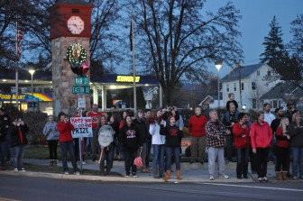 The Saucon community givng a heroic send-off to their beloved Panthers before the PIAA semifinal