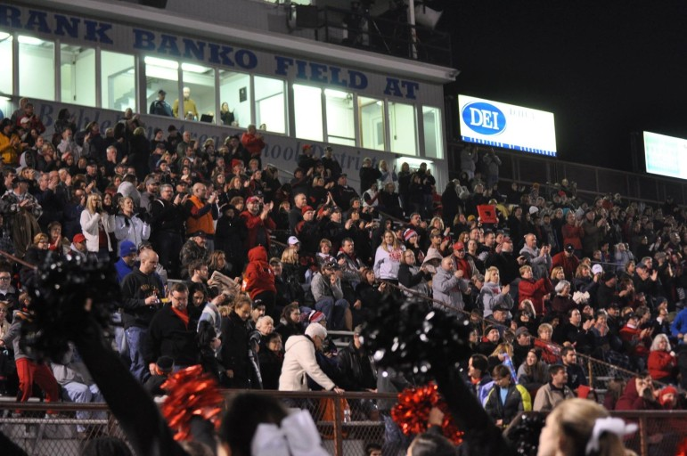 The home side at Bethlehem Area School District Stadium was packed with Saucon fans who came to cheer on the Panthers in their PIAA semifinal game Friday night.