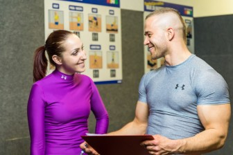 One way to help stay on track is to work with a personal trainer.