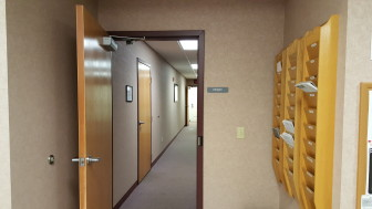 A door next to the main office window inside Borough Hall could be fortified with the installation of a keypad entry system.