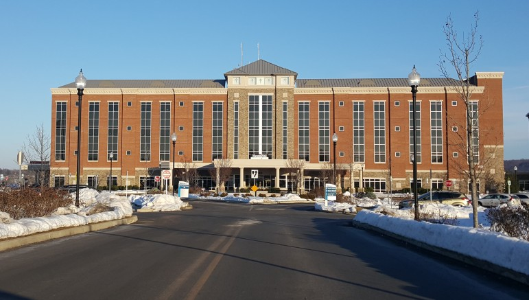 The main hospital building at St. Luke's University Hospital's Anderson Campus in Bethlehem Township, Pa.