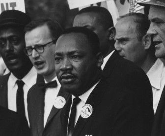 Dr. Martin Luther King Jr. at a civil rights march in Washington, D.C.