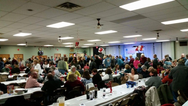 A large crowd turned out for the fundraiser Feb. 13 at Southeastern Volunteer Fire Company.