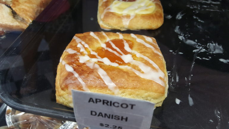 Apricot danish from the Hellertown Bakery