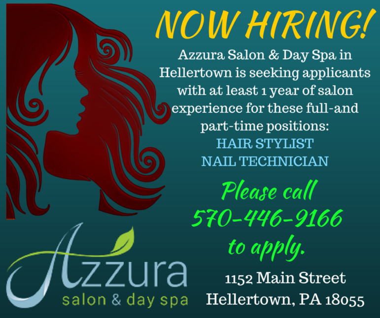 Azzura Salon Now Hiring