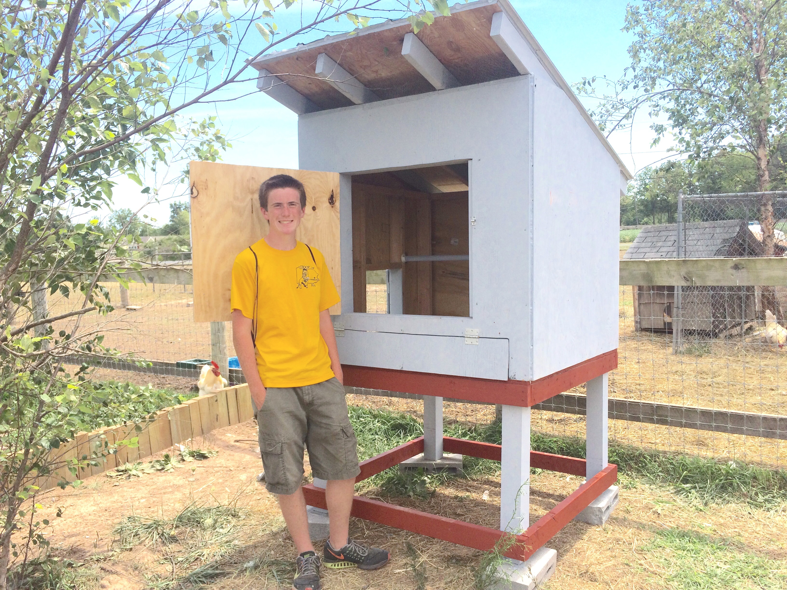 SV Student Builds Goat Playground, Rooster Coop at Animal Sanctuary |  Saucon Source
