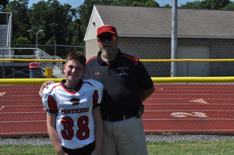 90's player Joe Peterson and his coach Jack Hill