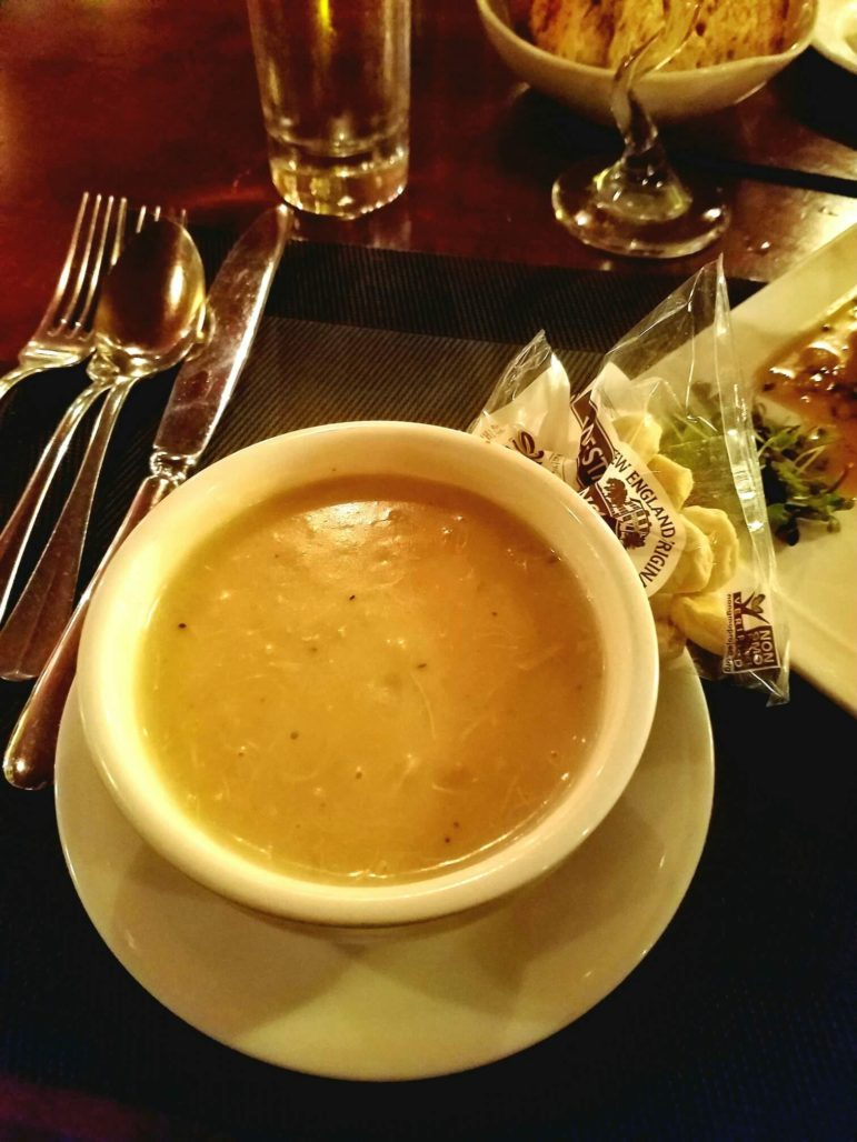 A cup of Crab Bisque ($4.50)