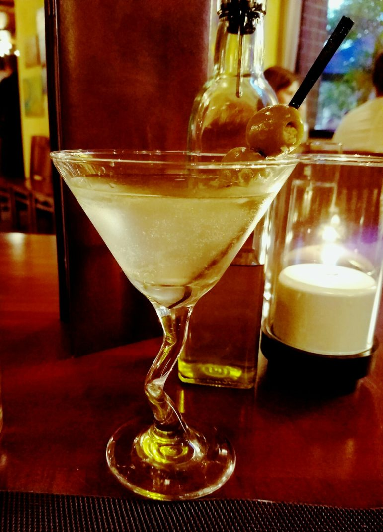 The Twisted Olive's Twisted Dirty Martini