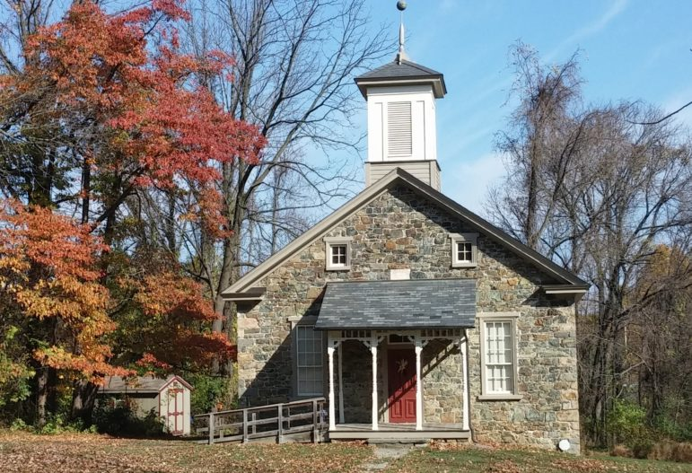 The Lutz-Franklin Schoolhouse on Countryside Lane in Lower Saucon Township