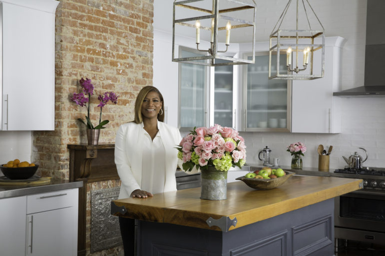 Queen Latifah has launched the Queen Collection--a new floral line--at Giant supermarkets.