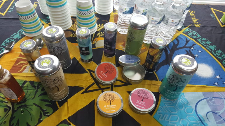 In conjunction with the opening of Sacred Space, Kindred Spirits Books & Gifts launched a new line of exclusive teas.