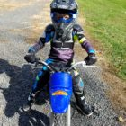 Caiden is already racing motocross as a Saucon Valley Elementary School kindergartner.