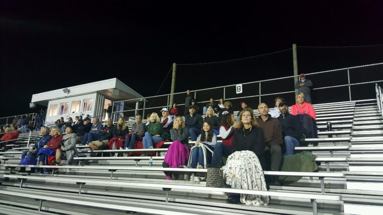 Saucon fans filled Salisbury's stadium to watch the Panthe JV and varsity boys soccer teams battle the Falcons Tuesday night.