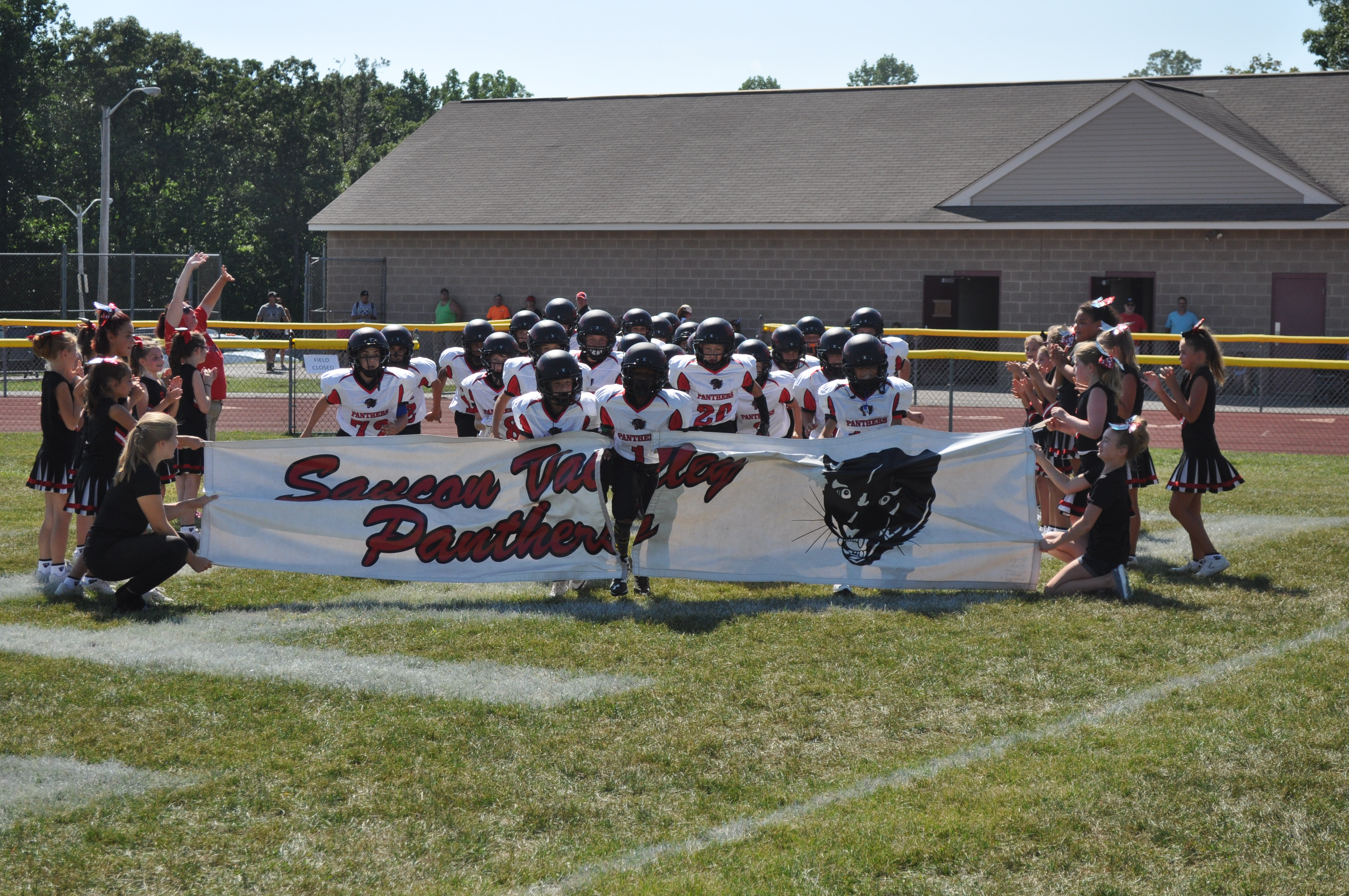 The Panthers take the field!