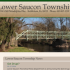 The homepage of the current Lower Saucon Township website, which hasn't been upgraded in about 10 years.