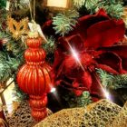 Christmas ornaments adorn an exquisitely decorated tree at Neighbors Home & Garden Center in Hellertown.