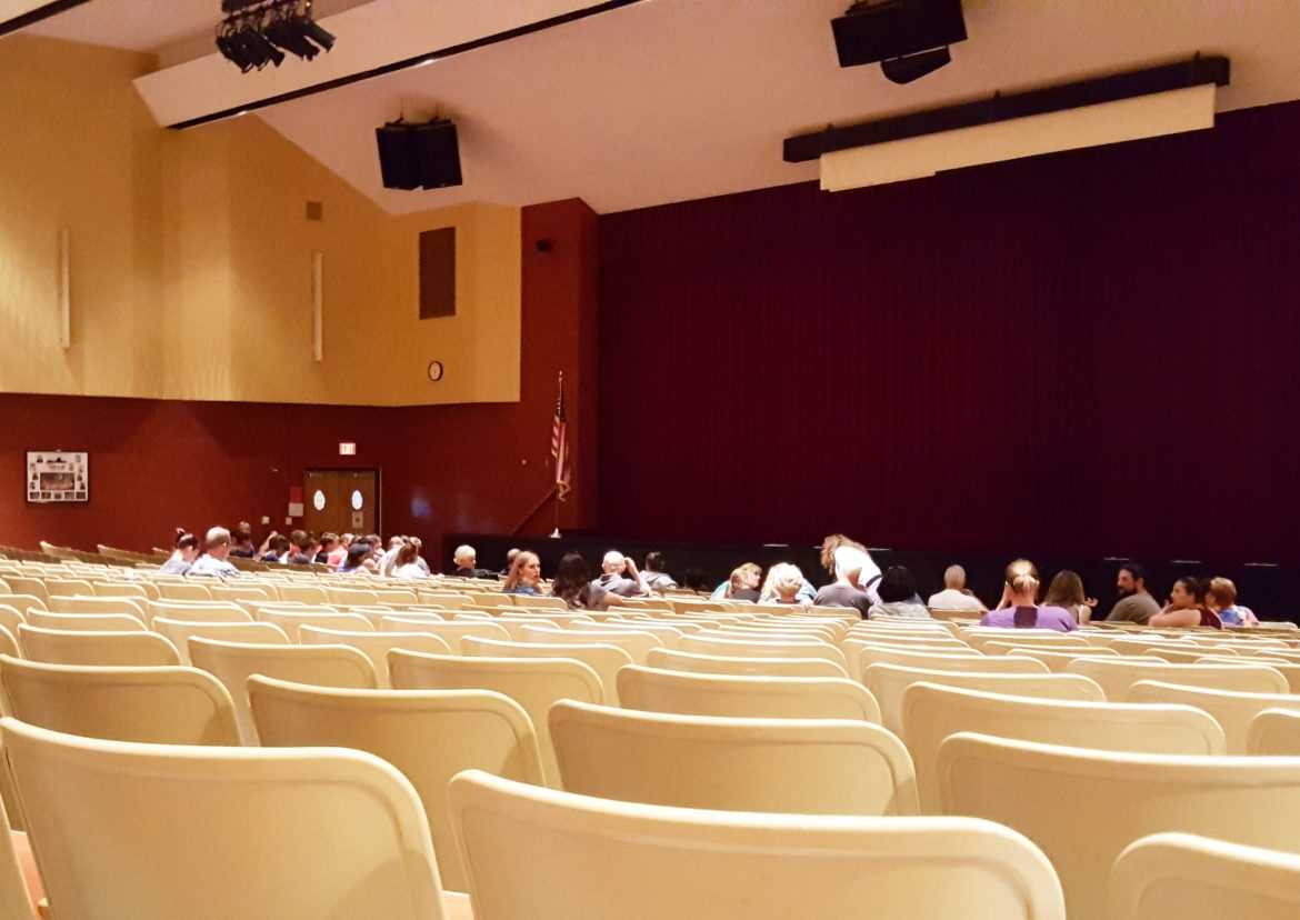 The Saucon Valley High School auditorium painting
