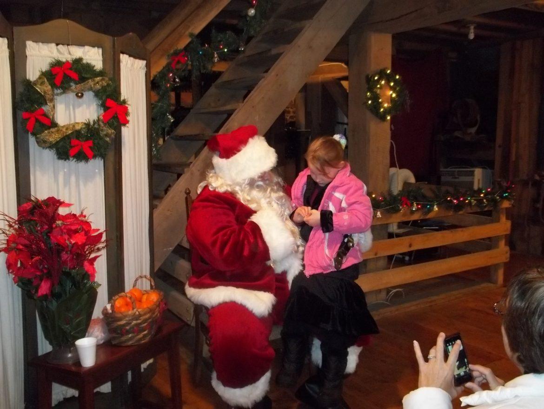 2013 Santa and Shopping at the Mill