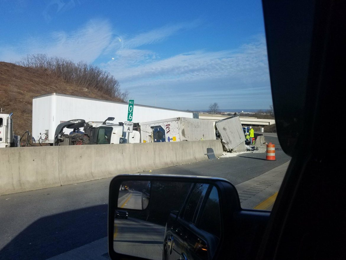Rollover Accident on I-78, Rt  33 Ramp Causes Traffic Backup | Saucon Source