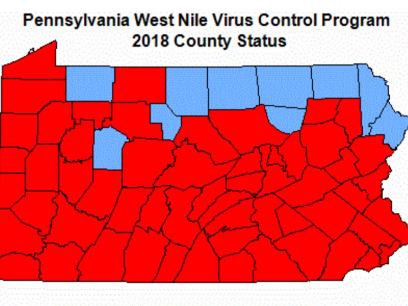 West Nile Virus map