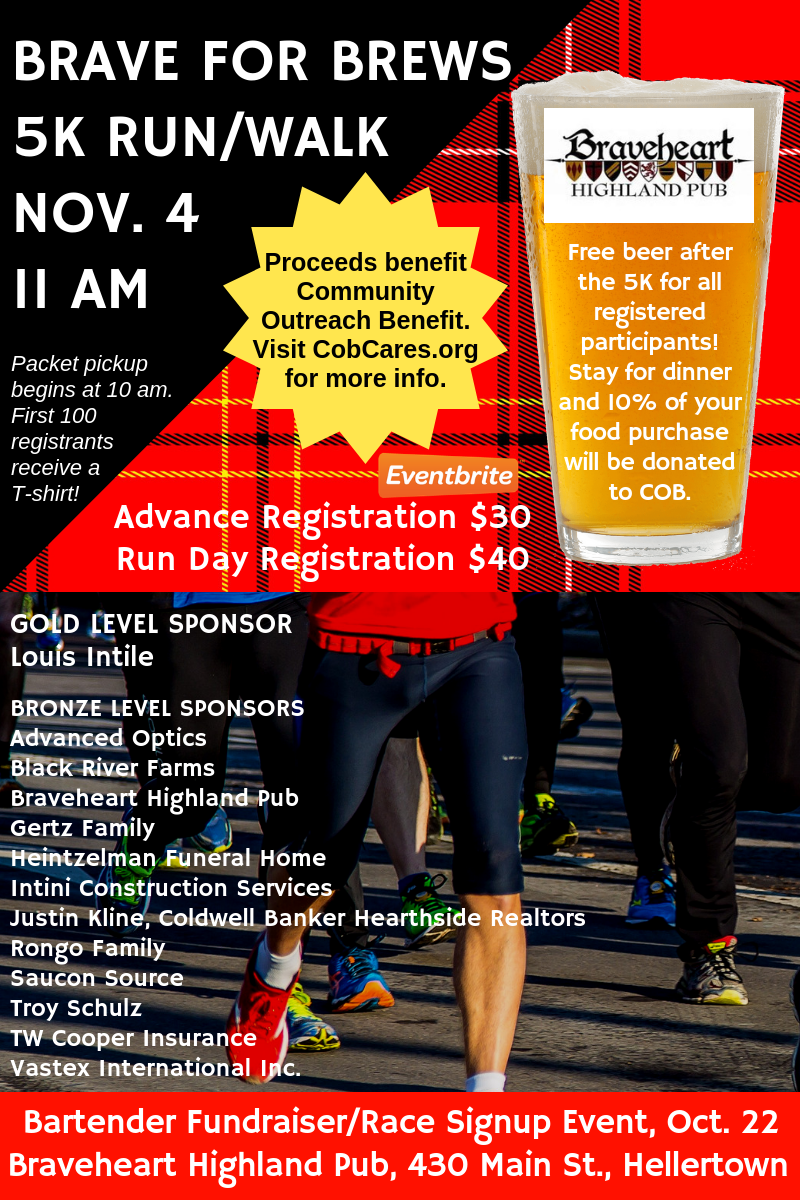 Brave for Brews 5K run walk