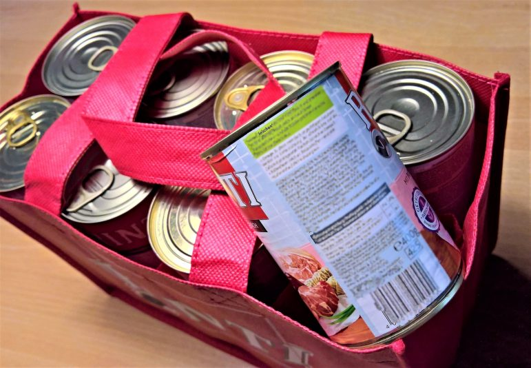 cans food bank