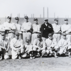 1918 Bethlehem Steel Baseball Team Photo with Joe Jackson, Babe Ruth, Rogers Hornsby