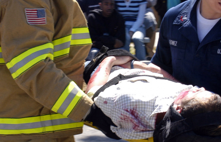 Mock Crash First Responders