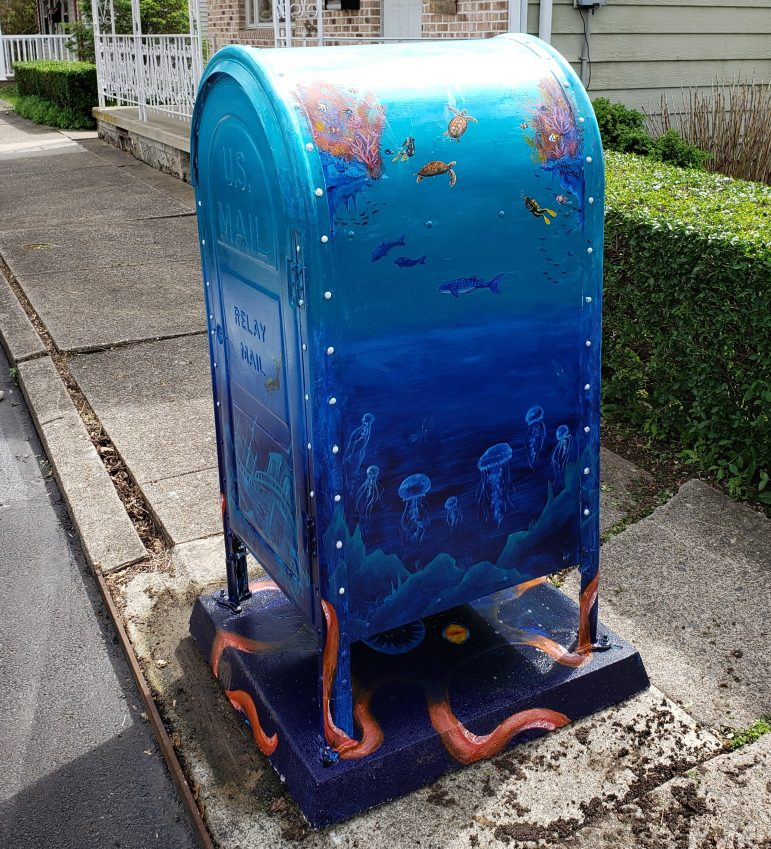 Art Comes to Hellertown Streets Via Post Office Relay Box Murals