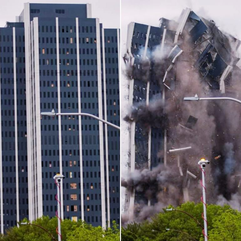Martin Tower implosion