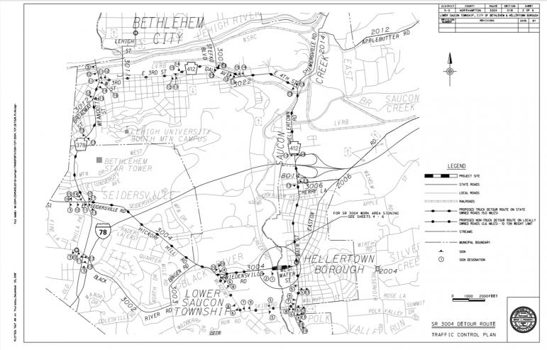 WSB Detour Map