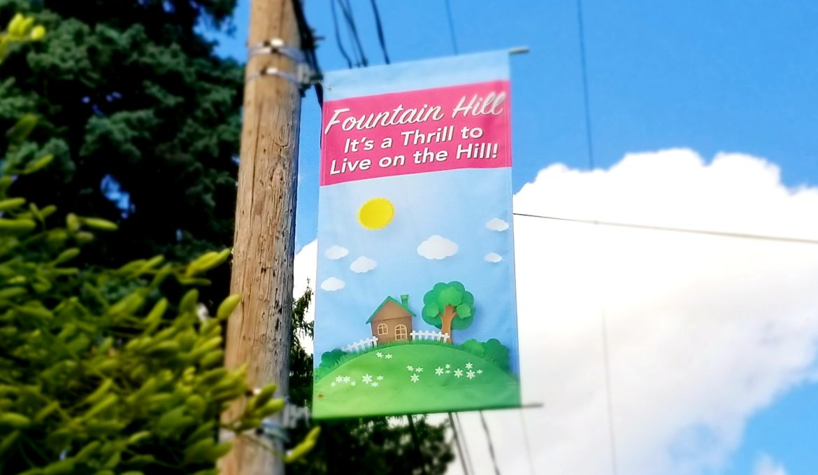 Fountain Hill banner