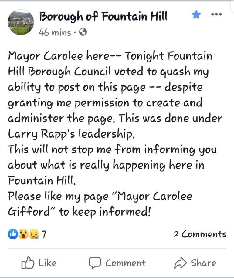 Fountain Hill Facebook